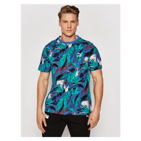 Puma T-Shirt Classics Graphics Aop Tee 599823 Kolorowy Regular Fit