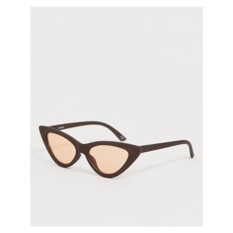 ASOS DESIGN cat eye sunglasses with light orange lens