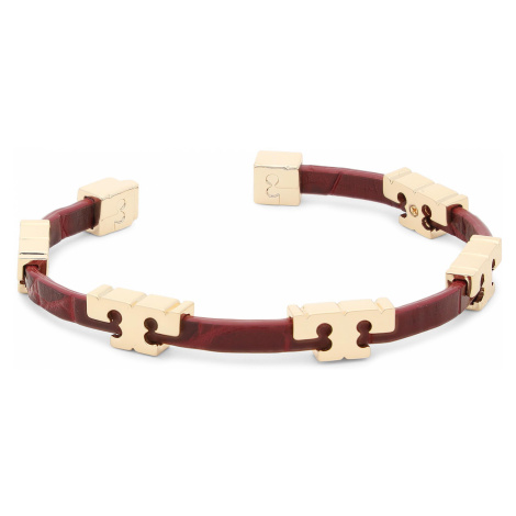 Bransoletka TORY BURCH - 77313 Tory Gold/Roma Red 700