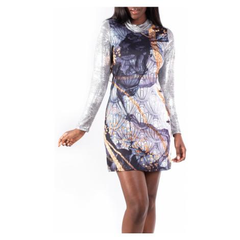 Culito from Spain sukienka Labrado z rękawami metalicznymi
