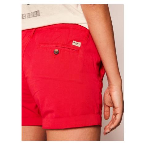 Pepe Jeans Szorty materiałowe Balboa PL800695 Czerwony Regular Fit