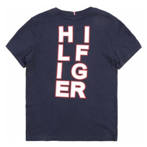 TOMMY HILFIGER Koszulka atramentowy / czerwony / biały