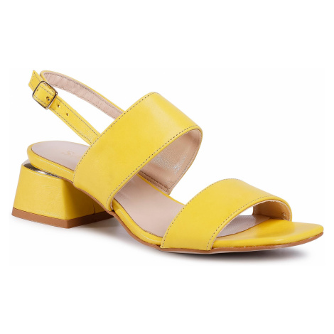 Sandały SAGAN - 3978 Żółty Lico
