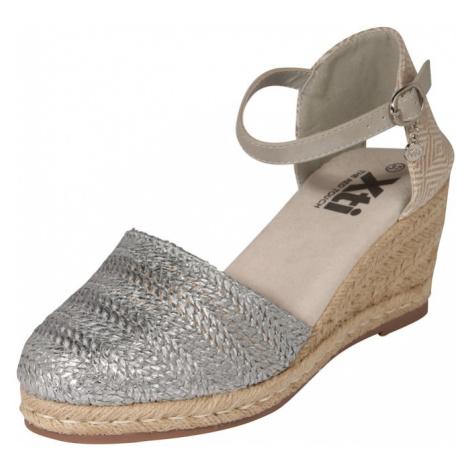 Xti Sandały z rzemykami srebrny