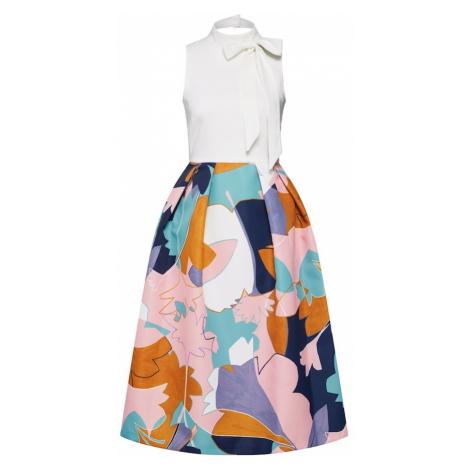 Closet London Sukienka etui różowy pudrowy / biały