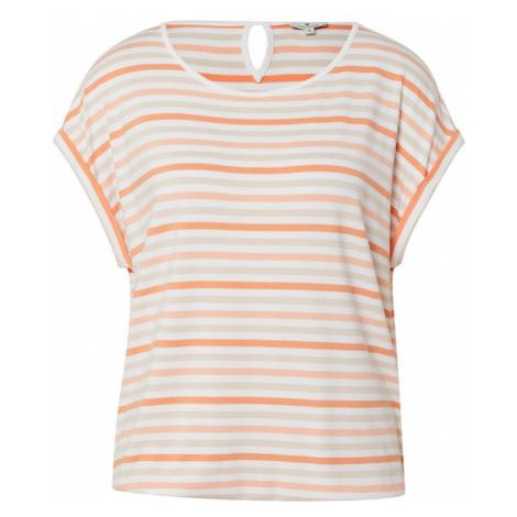 TOM TAILOR Koszulka ciemnopomarańczowy / beżowy