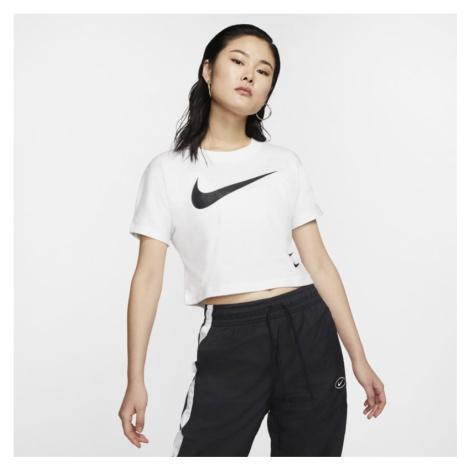 Damska koszulka z krótkim rękawem Nike Sportswear Swoosh - Biel