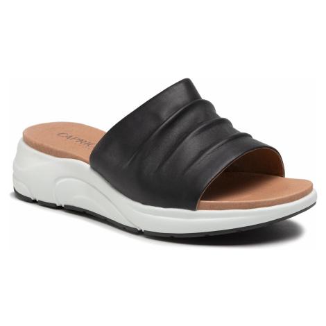 Klapki CAPRICE - 9-27203-26 Black Nappa 022