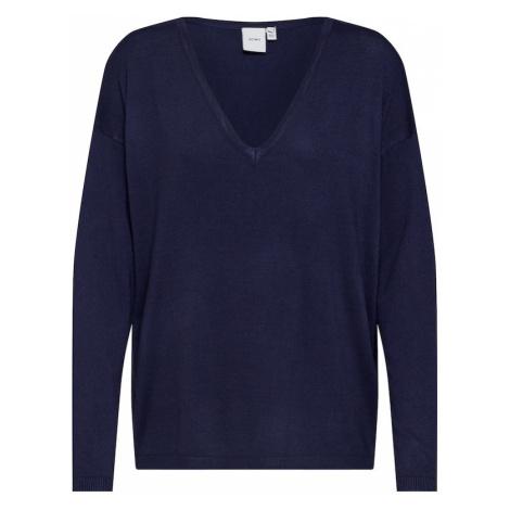 ICHI Sweter 'MAFA V LS2' niebieski