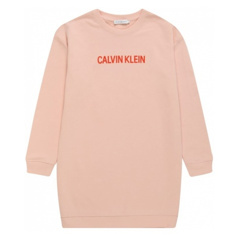 Calvin Klein Jeans Sukienka różowy pudrowy