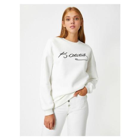 Koton Women Ecru Sweatshirt