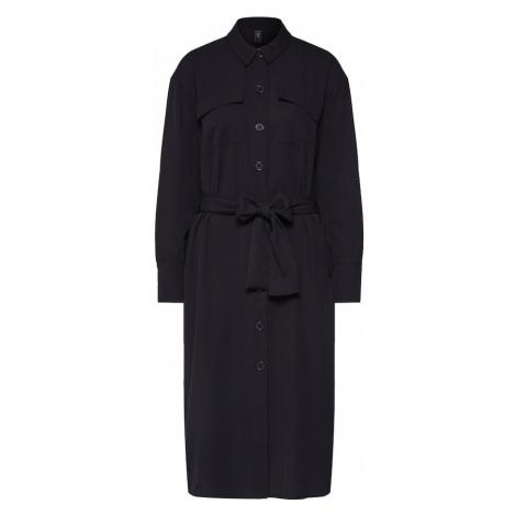 Y.A.S Sukienka koszulowa 'YASECHO LS SHIRT DRESS' czarny