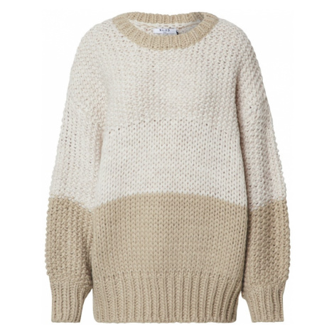 NA-KD Sweter 'two coloured heavy knitted sweater' biały
