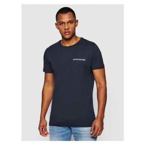 Calvin Klein Jeans T-Shirt J30J307852 Granatowy Regular Fit