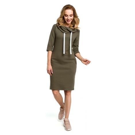 Made Of Emotion Woman's Dress M391 Khaki
