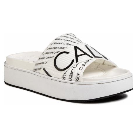 Klapki CALVIN KLEIN - Jeama B4E7952 White/Black