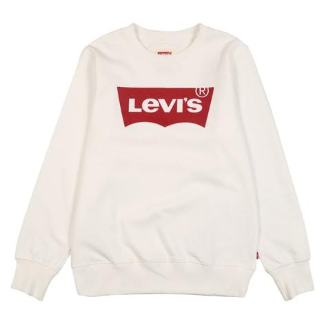 LEVI'S Bluza 'Batwing Crewneck' biały / ciemnoczerwony Levi´s