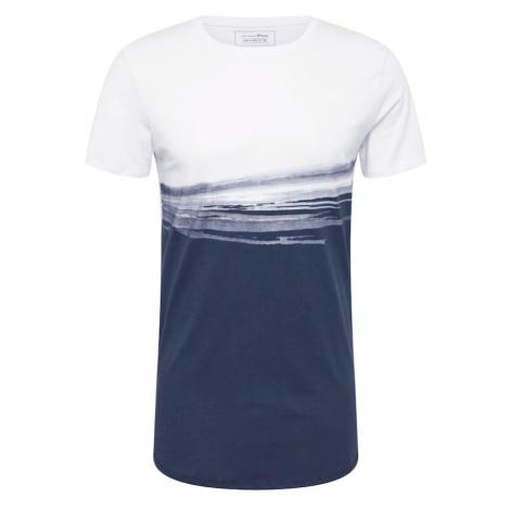 TOM TAILOR DENIM Koszulka niebieski / biały
