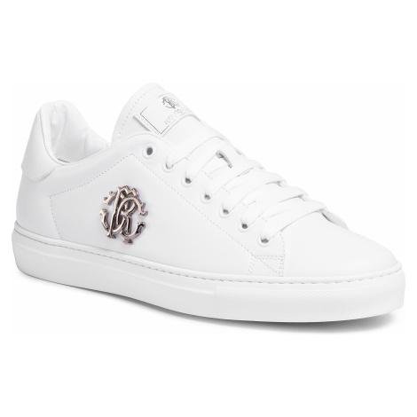 Sneakersy ROBERTO CAVALLI - 1000 F Bianco