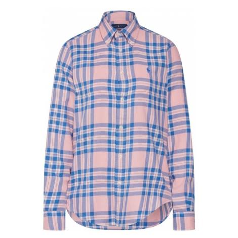 POLO RALPH LAUREN Bluzka 'GEORGIA' niebieski / różowy pudrowy