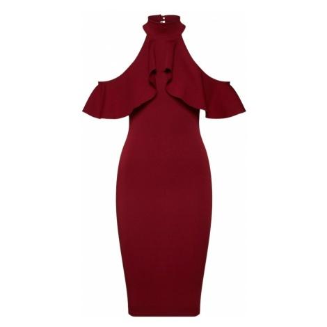 Missguided Sukienka koktajlowa burgund