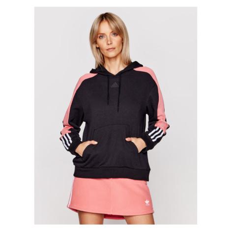 Adidas Bluza Essentials Logo Colorblock GL1442 Czarny Regular Fit