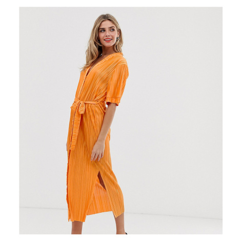 Another Reason belted midi shirt dress with side splits