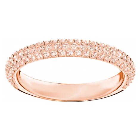 Pierścionek Stone, różowy, w odcieniu różowego złota Swarovski