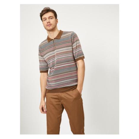 Koton Męski sweter z wzorzystą kawą