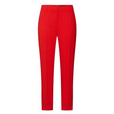 COMMA Spodnie w kant czerwony
