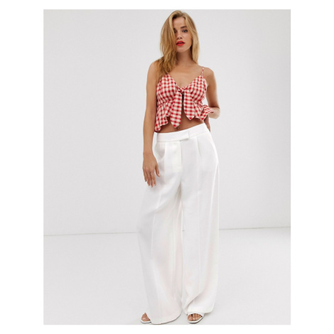 Oasis wide leg trousers in white