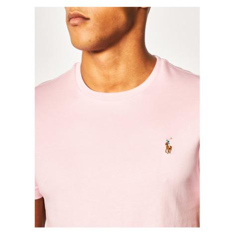 Polo Ralph Lauren T-Shirt Classics 710740727 Różowy Custom Slim Fit
