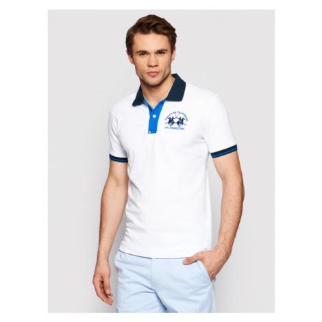La Martina Polo RMP005 PK001 Biały Slim Fit