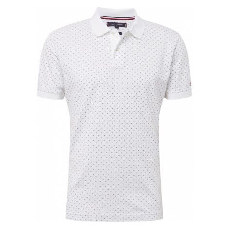 TOMMY HILFIGER Koszulka 'MICRO PRINT REGULAR POLO' biały