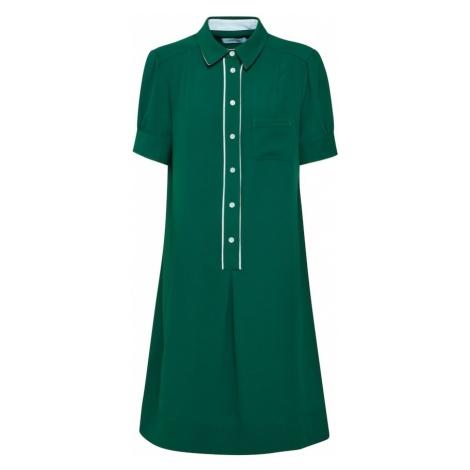 Calvin Klein Sukienka koszulowa 'DETAIL SHIRT DRESS SS' zielony / biały