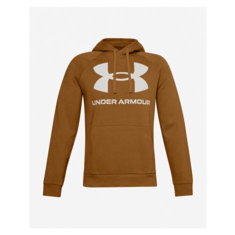 Under Armour Rival Fleece Big Logo Bluza Brązowy Pomarańczowy
