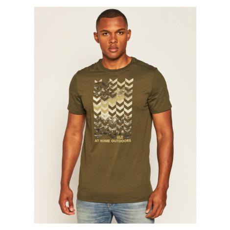 Jack Wolfskin T-Shirt Chevron T 1806991 Zielony Regular Fit