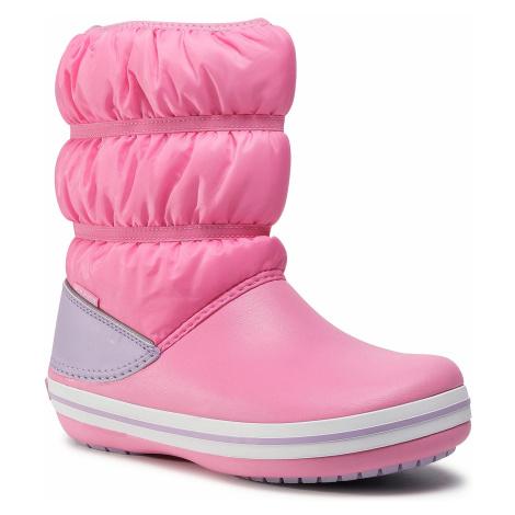 Śniegowce CROCS - Crocband Winter Boot K 206550 Pink Lemonade/Lavender