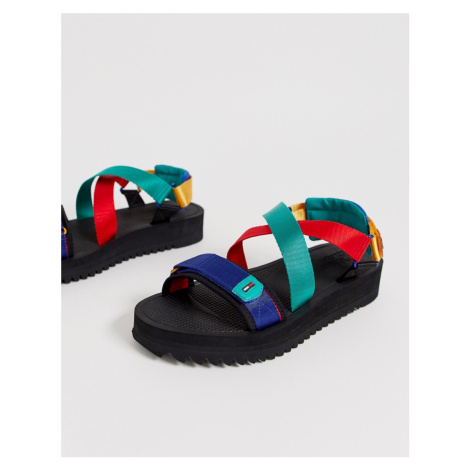 Tommy Jeans sandal with bright straps in black Tommy Hilfiger