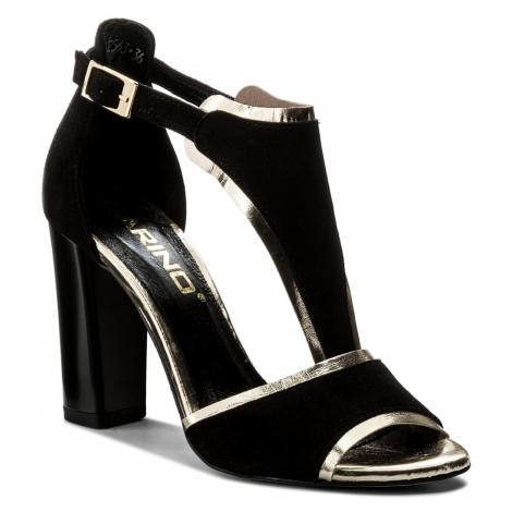 Sandały KARINO - 2563/003-P Czarny Złoty