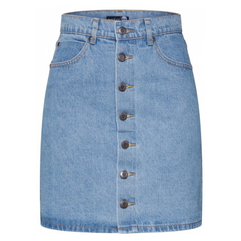 Boohoo Spódnica niebieski denim