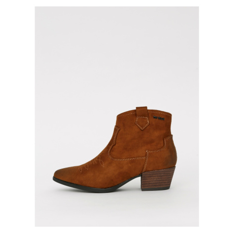 Brown women's ankle boots in suede by Tom Tailor