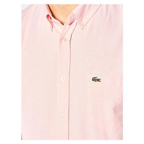 Lacoste Koszula CH4975 Różowy Regular Fit