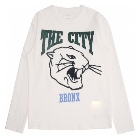 NAME IT Koszulka 'NKMVUX LS TOP B' podpalany niebieski / zielony / czarny / biały