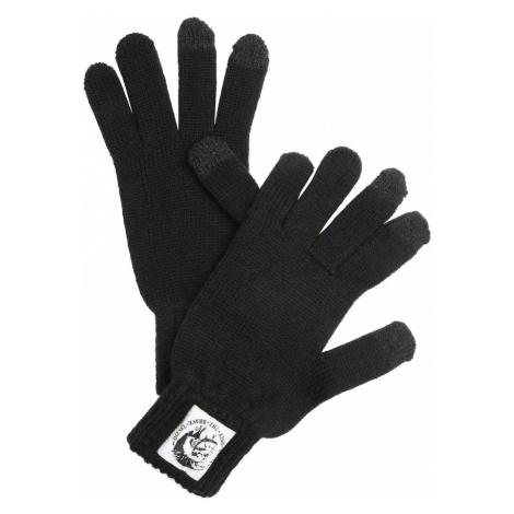 DIESEL Rękawiczki pięciopalczaste czarny