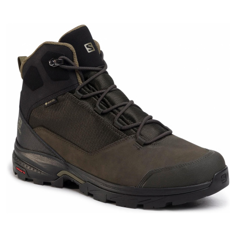 Trekkingi SALOMON - Outward Gtx GORE-TEX 409579 32 V0 Peat/Black/Burnt Olive