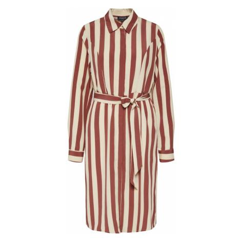SELECTED FEMME Sukienka koszulowa 'SLFLOUISE' brązowy / biały