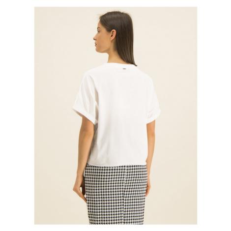 Guess T-Shirt Punk W01I0K I3Z00 Biały Oversize