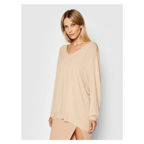 Kontatto Sweter 3M7215 Beżowy Oversize
