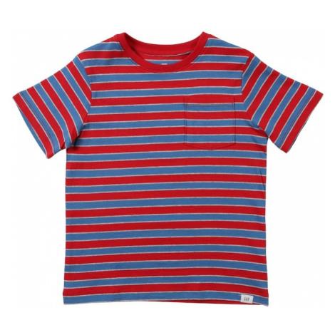 GAP Koszulka 'SH PTF STRIPE SS' czerwony